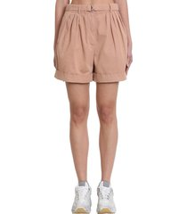 acne studios rowanne shorts in rose-pink cotton