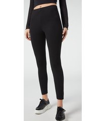 calzedonia high waisted leggings with comfort elastic woman black size xl