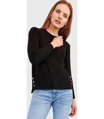 sweater nrg liso negro - calce regular
