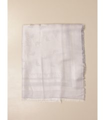 emporio armani scarf emporio armani scarf in viscose and modal with all over logo