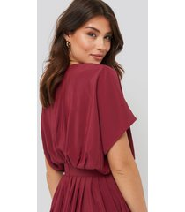na-kd trend marked waist dress - red