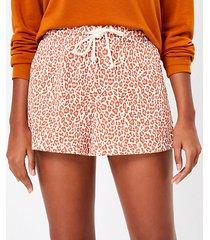 loft lou & grey leopard print terry shorts