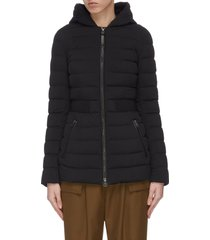 'kaila' cinched waist hooded puffer coat