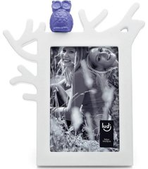 porta retrato coruja 10x15 ludi branco