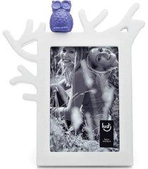 porta retrato coruja 10x15 ludi branco - branco - dafiti