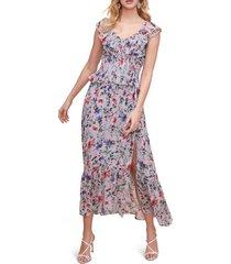 women's astr the label double flutter midi dress