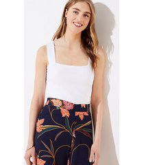 loft petite fitted square neck outfit-making tank