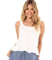blusa anakor blanco ragged pf11112231