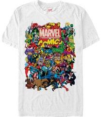 marvel men's comic collection the entire marvel men's cast short sleeve t-shirt