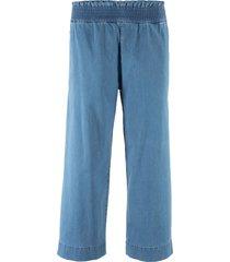 jeans elasticizzato con elastico e gamba larga (blu) - john baner jeanswear