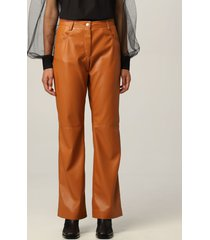 msgm pants msgm pants in synthetic leather