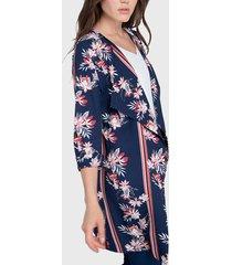 tapado ash tipo kimono azul - calce regular