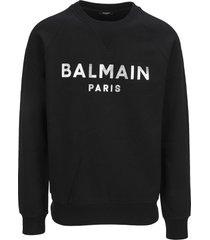 balmain balmain paris logo print sweatshirt