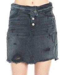 amiri fold over skirt