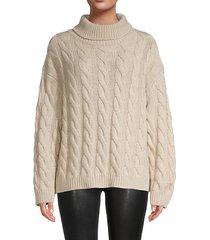 oversized cashmere turtleneck sweater