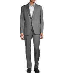 saks fifth avenue men's samuel sohn wool suit - grey - size 46 l