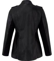 imitatieleren jas van emilia lay zwart