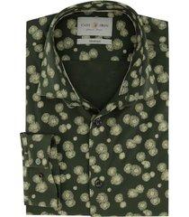 overhemd cast iron groen dessin