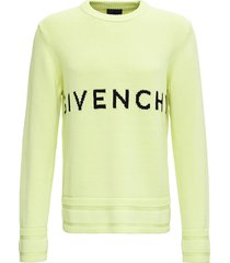 givenchy lime green cotton sweater with logo