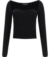 dolce & gabbana short sweater in viscose
