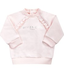 givenchy pink babygirl sweatshirt with silver logo