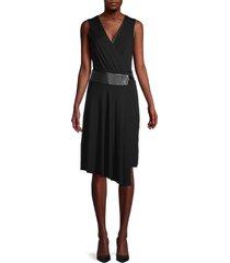 bailey 44 women's sleeveless faux wrap dress - black - size 6