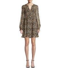 cactus animal print fit-&-flare dress