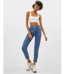 mom fit jeans met hoge taille