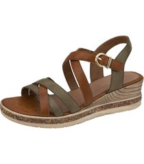 sandaletter remonte brun::grön