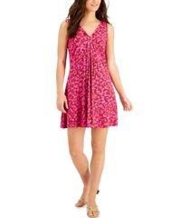 willow drive printed drapey sleeveless dress