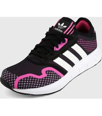 tenis lifestyle negro-fucsia-blanco adidas originals swift run x