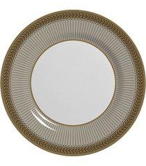 prato de sobremesa allezanza coleção prata celebrate fendi cinza 19,5cm