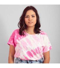 blusa in love t-shirt tiedey pink rosa - rosa - feminino - algodã£o - dafiti