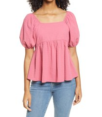 women's bp. babydoll tunic top, size medium - pink