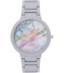 nine west women's lavender rubberized bracelet watch, 40.5mm