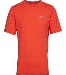 juha m t-shirt t-shirts short-sleeved röd halti