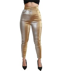 glittered skinny high waist broek