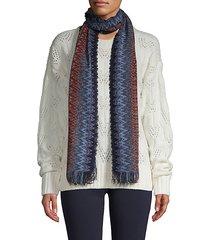 fringed-trim chevron scarf