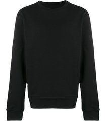 maison margiela elbow patch sweatshirt - black