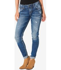 silver jeans co. mid rise girlfriend jeans