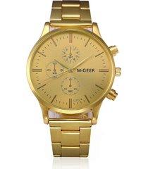 reloj hombre analogico vintage clasico s1118 dorado