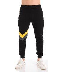 hombres fashion chevron patrón color block drawstring joggers pantalones deportivos