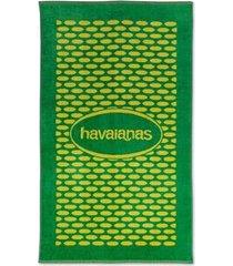 toalha havaianas logo veludo