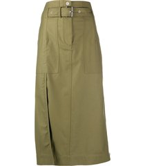 3.1 phillip lim high-waist pencil midi skirt - green