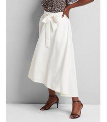 lane bryant women's lena high-low midi skirt 12 ivory