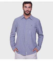 camisa azul motange rowland