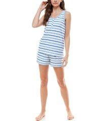 roudelain tank top & shorts pajama set