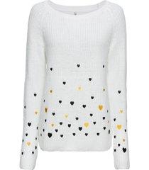 maglione con cuoricini (bianco) - rainbow