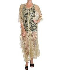 floral gown cape dress