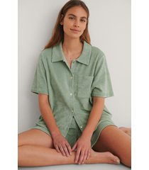 na-kd reborn ekologisk skjorta - green